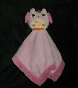 TIDDLIWINKS-BABY-PINK-OWL-SECURITY-BLANKET-STUFFED-ANIMAL-PLUSH-LOVEY-TOY