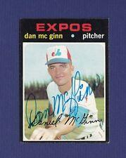 Dan McGinn signed Montreal Expos 1971 Topps baseball card