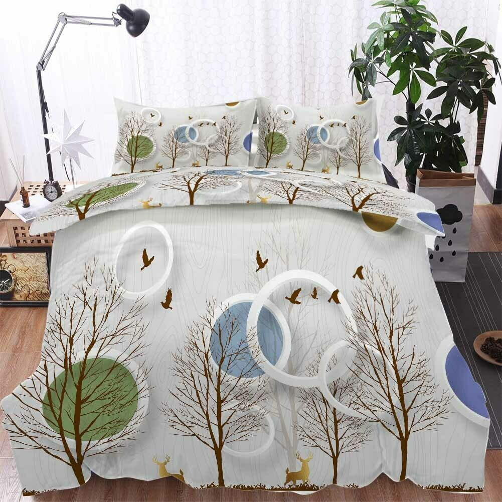 Blau Frame Branch 3D Printing Duvet Quilt Doona Covers Pillow Case Bedding Sets