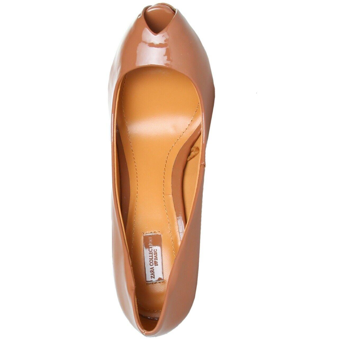 ZARA Peep 2158_101_MAQUILLAJE Damenschuhe Schuhe Pumps High Heels, Peep ZARA Toes, EUR 38 1c8612