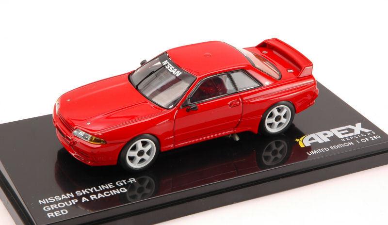 Nissan Skyline Gt-R Group A Racing rouge 1 43 Model APEX REPLICAS