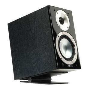 Soundxtra-Ajustable-Par-De-Escritorio-Mesa-Universal-Soportes-de-altavoces-Grande-Negro-x2