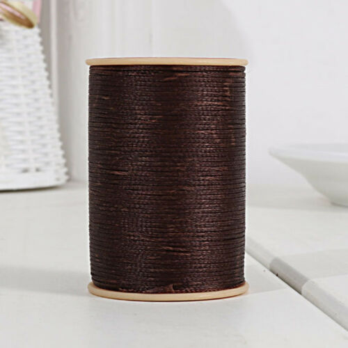 0.8mm *100m//Roll Flat Braided Waxed Cotton Cord String Jewelery Craft Sewing DIY