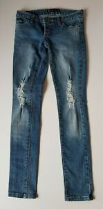 BARDOT-Blue-Distressed-Stretch-Jeans-Size-8