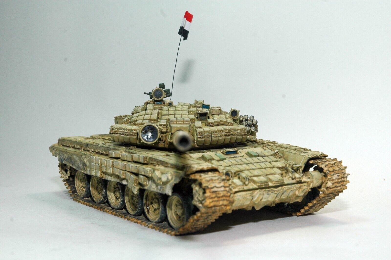 Russo (siriano) serbatoio T-72B 1 35 costruito