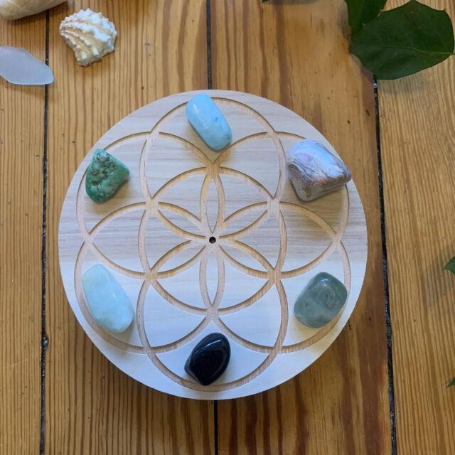 Miniature Seed of life beautiful wooden art or pendant sacred