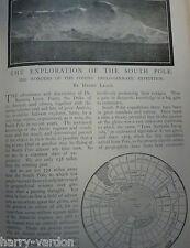 South Pole Exploration Polar Scott Antarctic Antique Old Article Edwardian 1901