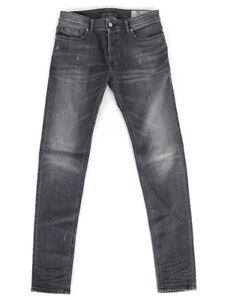 Diesel Herren Slim Skinny Fit Stretch Röhren Jeans Grau | Troxer R4NQ8 |W31 L32