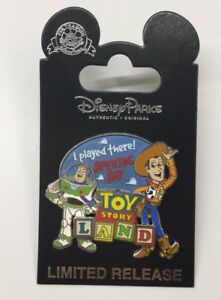 Details about Disney Pin Toy Story Land Opening Day 2018 I Played There!  Toy Story Land Rare