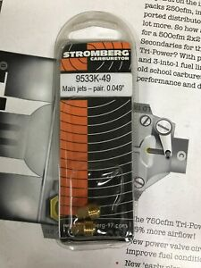 Stromberg 97 48 40 81 LZ  carb carburetor jets 49 9533k-49