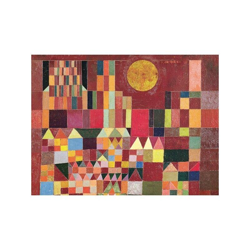 Quadro su Pannello in Legno MDF Paul Klee Castle and Sun (detail)