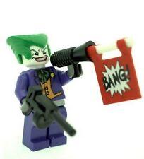Custom Minifigure Purple Joker with Weapon Superhero Printed on LEGO Parts