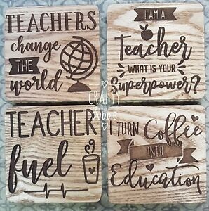 WOODEN-ENGRAVED-TEACHER-COASTER-CAN-BE-PERSONALISED