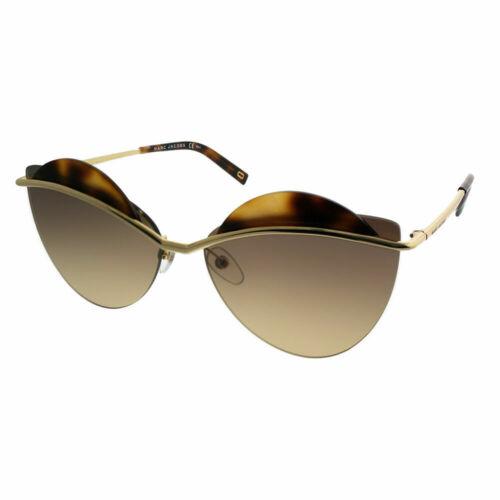 Marc Jacobs MARC 104//S J5G GG Gold Havana Metal Cat-Eye Sunglasses 60mm