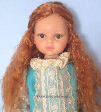 """perruque LONGUE rousse poupée moderne-tête19/20.5cm-Doll wig supplies sz7/8"""""""