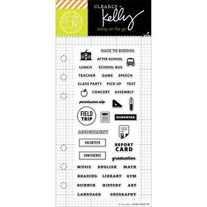 Image Is Loading Kelly Purkey Stamps School Planner Clear Set Journal