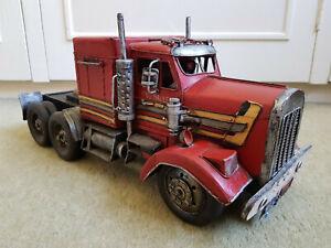 KING-HAULER-American-Truck-17-034-Tinplate-Metal-Handmade-Model-EXCELLENT-CONDITION