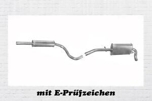 1.4 Mitteltopf Endtopf Abgasanlage Montagesatz für VW Lupo Seat Arosa 1.0