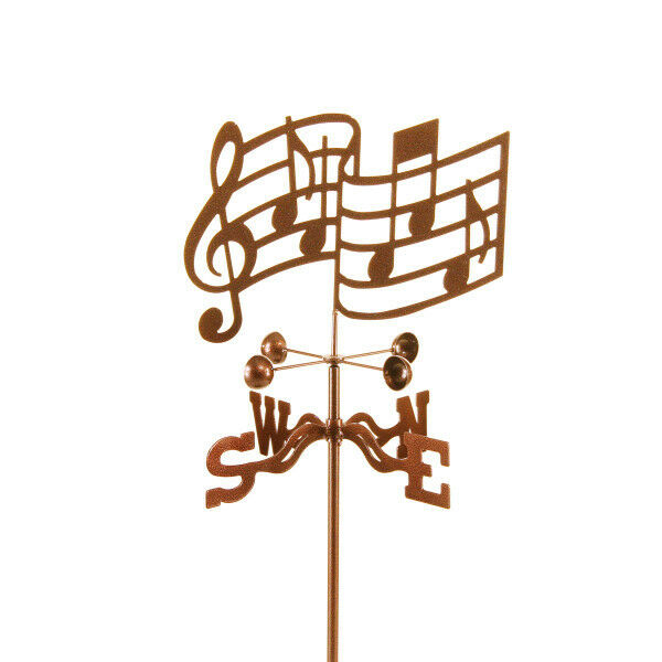Musical Notes Weathervane - Music, Clef Weather Vane Complete w/ Choice of Mount