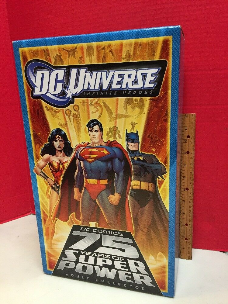 DC Universe Infinite Heroes 75 Years Of Super energia Adult Collector 6 cifra Set