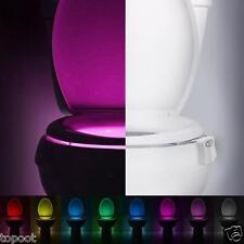 8 Colors Body Sensing Automatic LED Motion Sensor Lamp Toilet Bowl Night Light