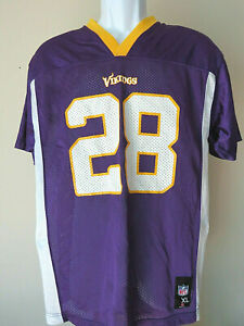 info for f6356 b2d8f Details about Minnesota Vikings Official NFL Football Adrian Peterson #28  Jersey Youth XL