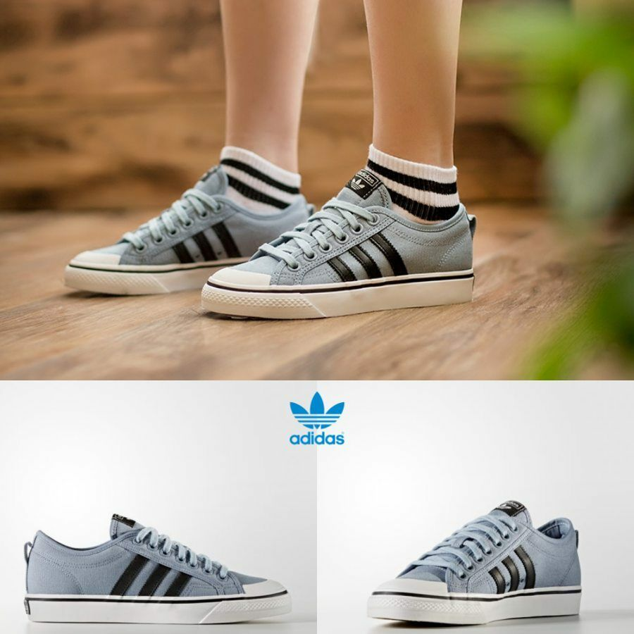 Adidas Originals Nizza shoes BZ0491 Athletic bluee BLACK WHITE SZ 4-12