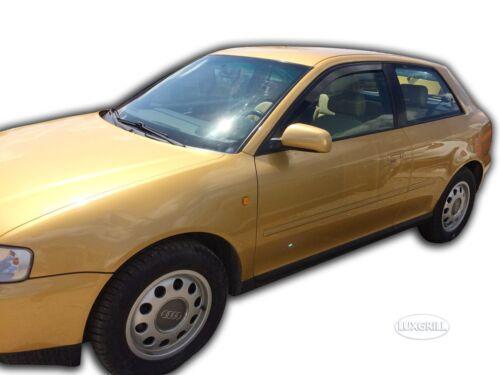 DAU10205 Audi A3 8L 3 Puertas 1996-2002 Heko Deflectores de Viento Oscuro 2
