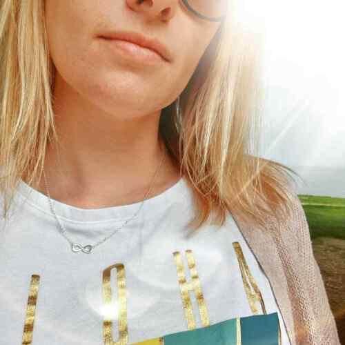 Collar Infinito Plata Real madrina Caja de Regalo Joyería Idea Regalo de Cumpleaños