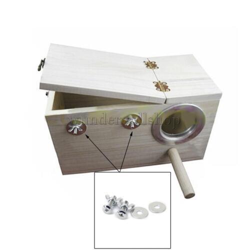 Spannschraube Nest Box DIY Fuer Vogel Haus Käfig Papagei Nistkasten