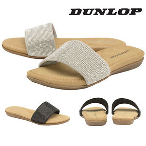 Dunlop-Ladies-Womens-Slip-On-Sandals-Sliders-Flip-Flops-Shoes-Padded-Insock-3-8