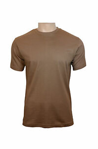 US Style BDU T-Shirt - Brown 100% Cotton Army Military Top New All ... 954449fdc58