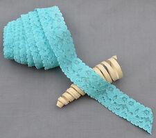 "5 Yards Elastic Lace 1"" Stretch Lace Elastic Lace Trim Elastic Headband Bridal"