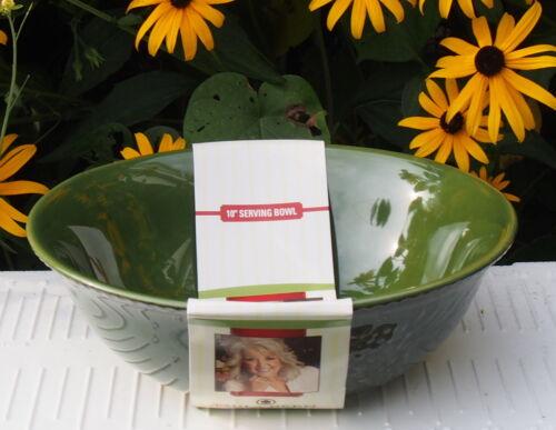 "NEW Paula Deen Signature Dinnerware Southern Pine 10/"" SERVING Bowl Blended Green"