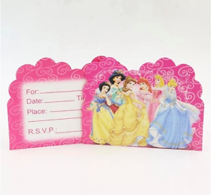 Image Is Loading NEW Pack Of 10 Disney Princess Themed Birthday
