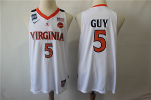 Details about Men Virginia Cavaliers #5 Kyle Guy White 2019 Final Four Patch Basketball Jersey