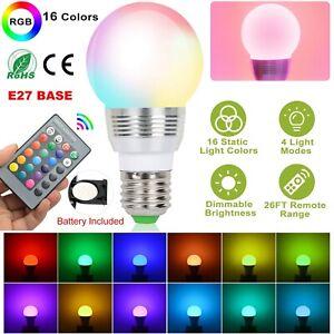 3W Luma Bulb Colour Changing RGB LED Bulb With Remote Control 16 Colour Choices