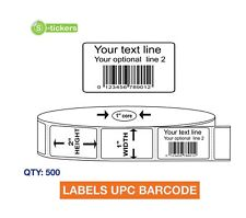 500 Custom Printed Upc Ean Barcode Labels Email Your Legal Upc Number To Us