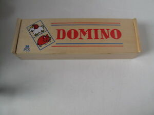 Kinder Domino (Holz) in Holzbox - Darstein, Deutschland - Kinder Domino (Holz) in Holzbox - Darstein, Deutschland