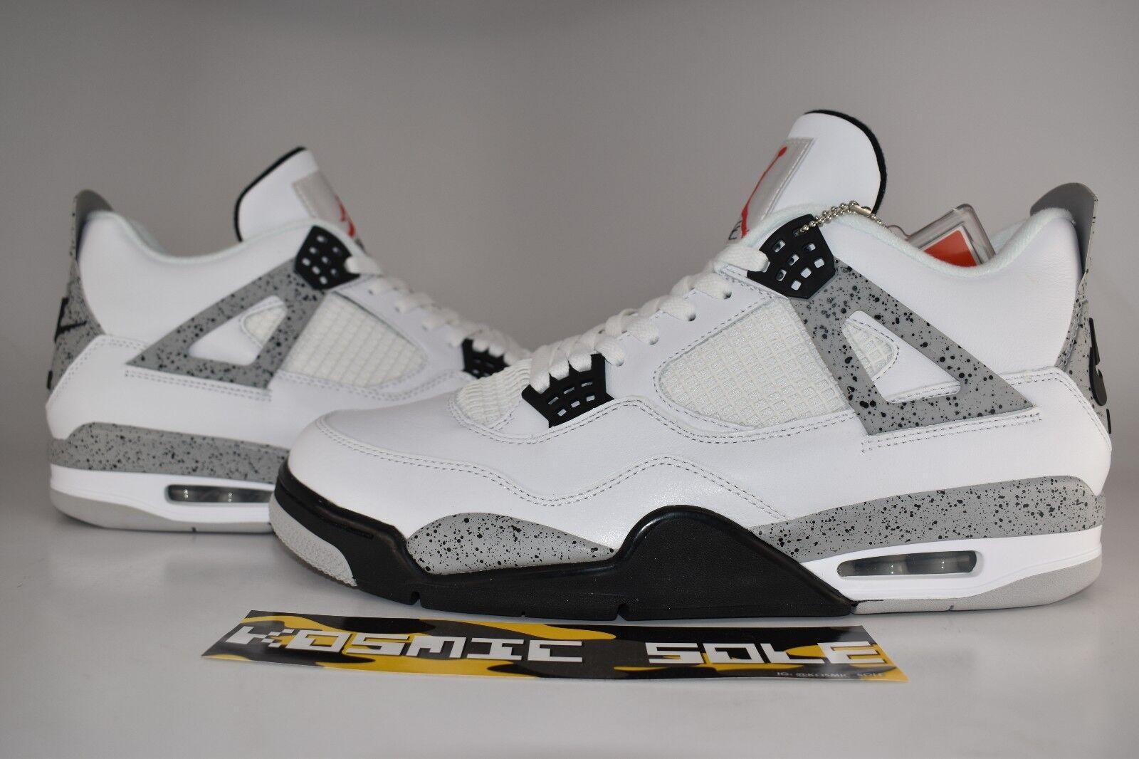 "Nike Air Jordan 4 Retro ""White Cement"" 2016 Style Size 13"