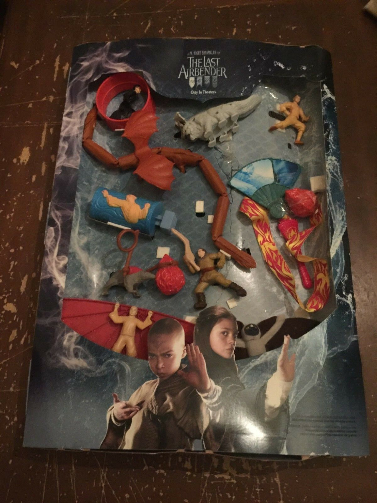 2010 McDonald's The Last Airbender Happy Meal Toy Display