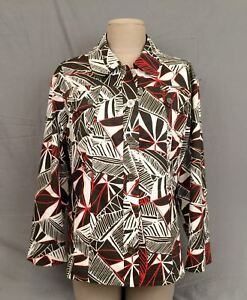 NWT $79 CHICO'S Tropic Sketch Coren 3/4 Sleeve Women's Chocolate Jacket Sz.3