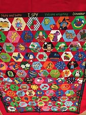 "Cheater Fabric Panel 45""L x 35.5""W I Spy Children Quilting​ Diamonds HTF"