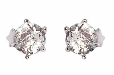 DSE 5087584 Star-Prong Solitaire Earrings Swarovski crystal/ rhodium-plated MIB