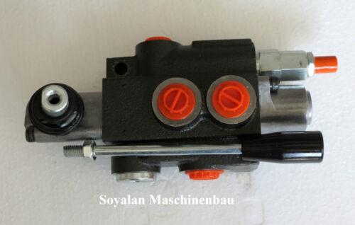 Doppia ad azione mano Valvola di Controllo LEVA MANUALE VALVOLA idraulica ad esempio per spaccalegna