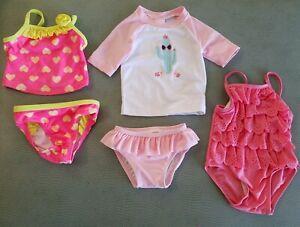 UV protection NEW Op Girls Pink Swim Shirt 3-6 months UPF 50