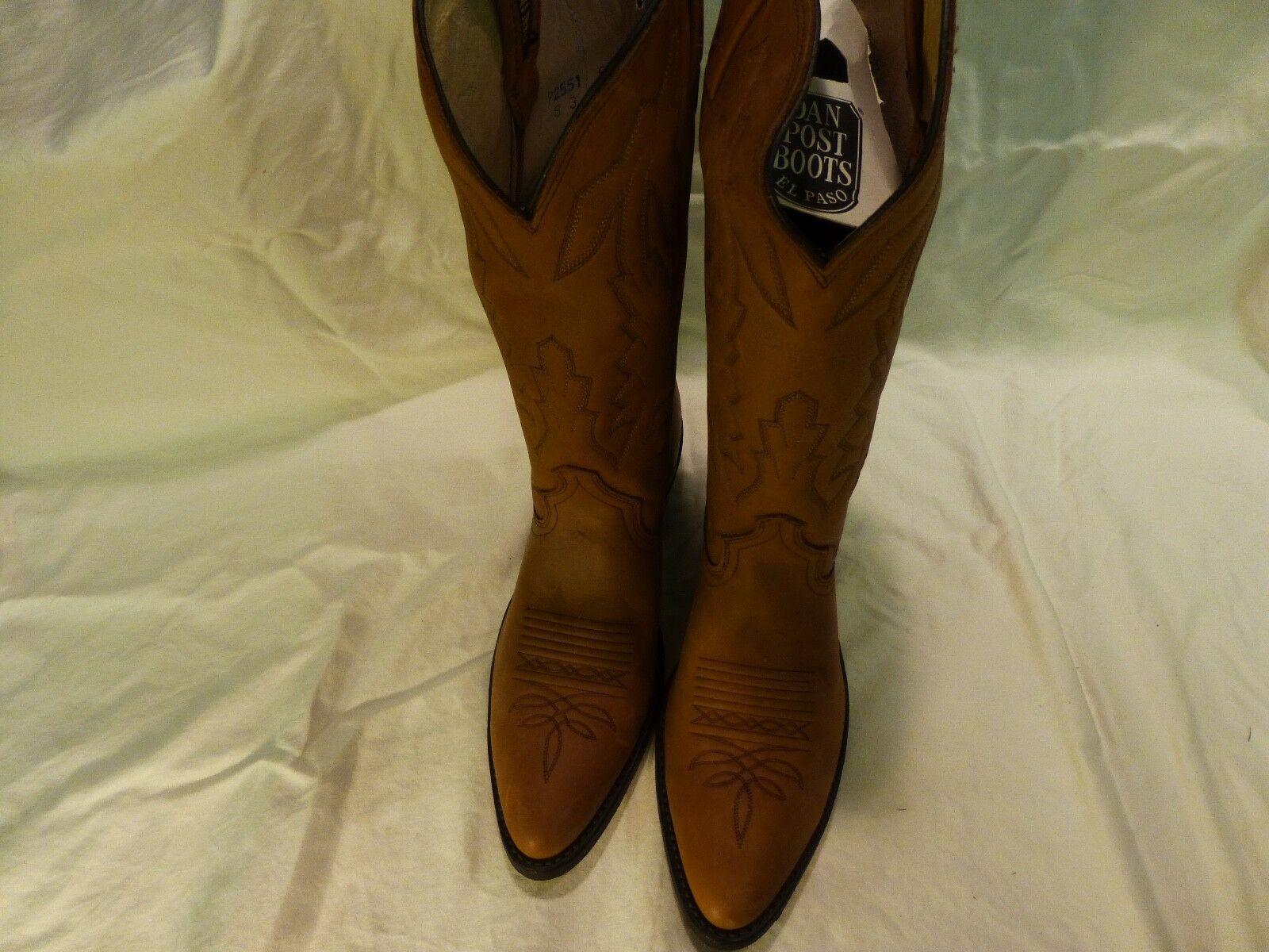 vendita scontata Dan Post Marlboro Western Leather Cowboy Cowboy Cowboy Casual Work Dress donna stivali 9.5D NEW  acquisto limitato