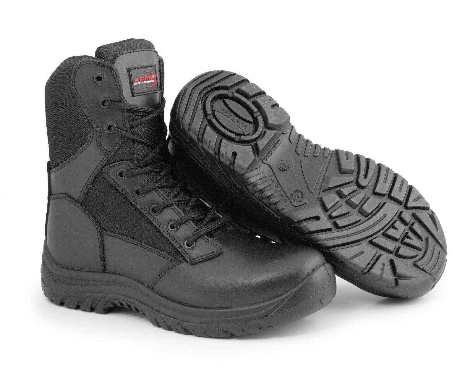 Arma de combate seguridad A6 Guerrero De Trabajo botas De Seguridad Policía Militar Puntera De Acero Suela
