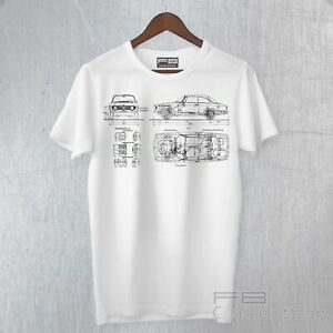 T-Shirt Maglietta ALFA ROMEO GT JUNIOR 1300 Scalino Tecnica Digital Art German