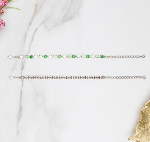 6mmClassic Eighteen Setting Empty BraceletsThree Pieces
